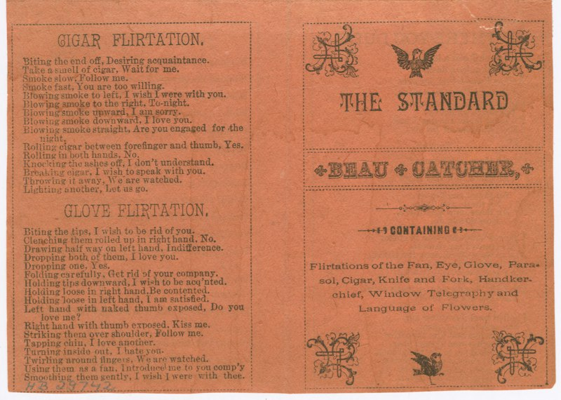 Как флиртовать с помощью книг: инструкции из викторианских открыток 5